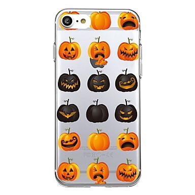 Maska Pentru Apple Transparent Model Carcasă Spate Țiglă Fruct Halloween Moale TPU pentru iPhone 7 Plus iPhone 7 iPhone 6s Plus iPhone 6