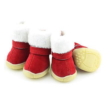 Hond Schoenen & Laarzen Houd Warm Snowboots Kerstmis Nieuwjaar Effen Voor huisdieren