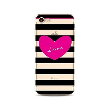 غطاء من أجل Apple iPhone X iPhone 8 Plus شفاف نموذج غطاء خلفي خطوط / أمواج قلب ناعم TPU إلى iPhone X iPhone 8 Plus iPhone 8 فون 7 زائد