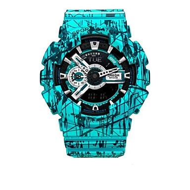 Heren Slim horloge Digitaal Rubber Band Zwart Rood Groen Grijs