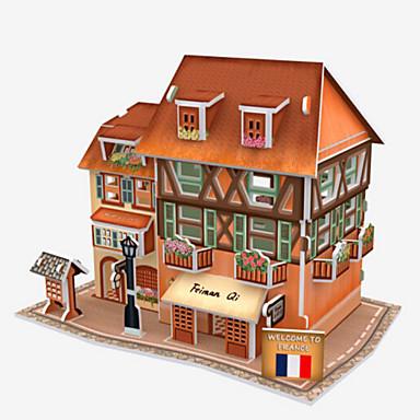 قطع تركيب3D تركيب نموذج الورق بناء مشهور معمارية 3D مواد تأثيث اصنع بنفسك الخشب الطبيعي للجنسين هدية