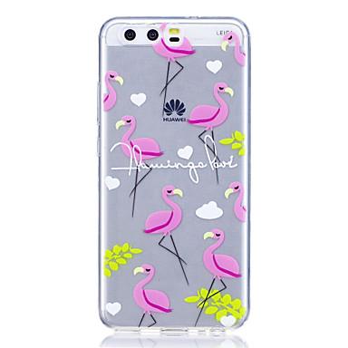Hülle Für Huawei Muster Rückseite Flamingo Weich TPU für P10 Plus P10 Lite P10