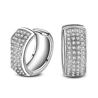 Dames Ring oorbellen Zirkonia Basisontwerp Modieus PERSGepersonaliseerd Hypoallergeen Klassiek Gesimuleerde diamant Zirkonia Legering