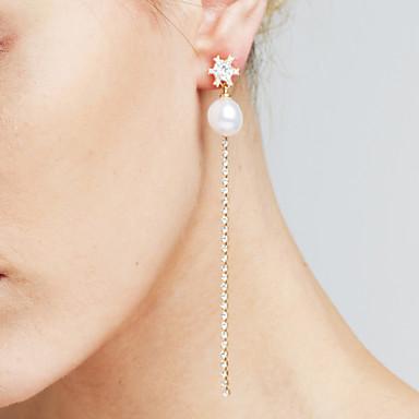 Damen Synthetischer Diamant Tropfen-Ohrringe - Personalisiert Anhänger Film-Schmuck Euramerican Modisch Linienform Für Weihnachts