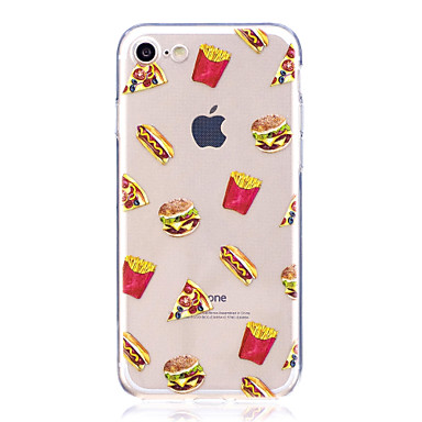 Caz pentru Apple iPhone 7 7 plus carcasă de hamburge de acoperire de înaltă transparentă de material tpu material caz de telefon
