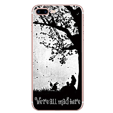 Hülle Für Apple iPhone 7 Plus iPhone 7 Muster Rückseite Wort / Satz Baum Weich TPU für iPhone 7 Plus iPhone 7 iPhone 6s Plus iPhone 6s