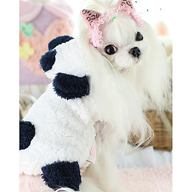 قط كلب ازياء تنكرية ملابس الكلاب سادة أبيض قطن بطانة فرو كوستيوم للحيوانات الأليفة كاجوال / يومي