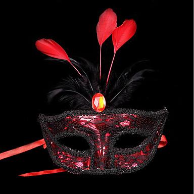 1pc trupa de păr de păr mic pentru petrecerea de costume de Halloween aur plat masca de argint masca pene pictura masca partid culoare
