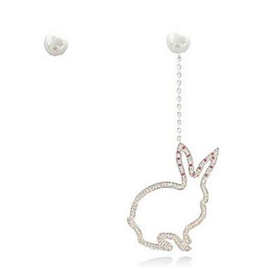 Pentru femei Cercei Stud Imitație de Perle Design Animal Sexy Nepotrivirea Placat Auriu Animal Shape Bijuterii Pentru Dată Concediu Plajă