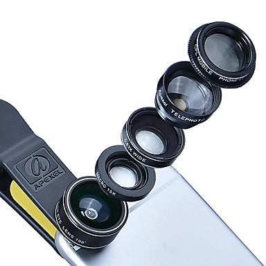 Monitoare lentile smartphone lentile 0.45x unghi larg 12.5x lentile macro 12x lentile focale lungi pentru iphone huawei xiaomi samsung
