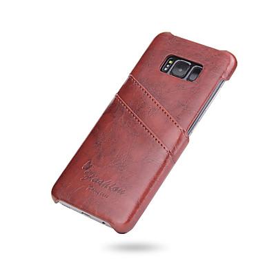 Maska Pentru Samsung Galaxy S8 Plus S8 Titluar Card Capac Spate Culoare solidă Greu PU piele pentru S8 Plus S8 S7 edge S7