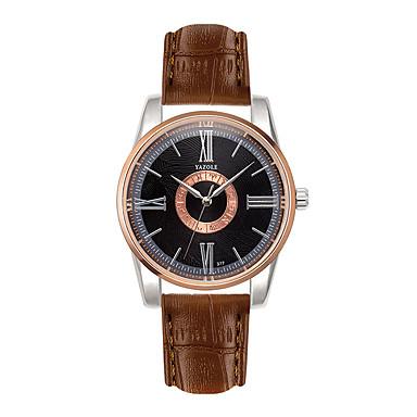 Bărbați Ceas La Modă Ceas de Mână Ceas Casual Quartz Piele Bandă Casual Negru Alb