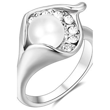 Damen Bandring Kristall Personalisiert Luxus Klassisch Grundlegend Sexy Liebe Elegant nette Art Modisch Krystall Aleación Blume Schmuck