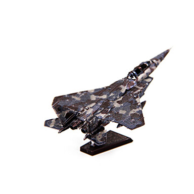 Legpuzzel Metalen puzzels Speeltjes Vliegtuig Vechter 3D DHZ Inrichting artikelen Roestvrijstaal Kuiper Metaal Niet gespecificeerd Stuks