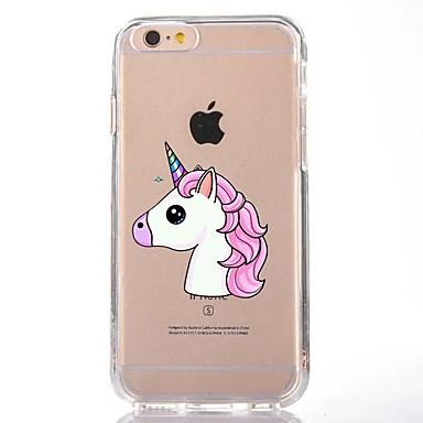Caz pentru iphone 7 6 tpu desene animate unicorn moale ultra-subțire spate cover case acoperă iphone 7 plus 6 6s plus se 5s 5 5c 4s 4