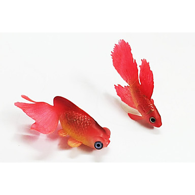 Aquarium Dekoration Künstliche Fische leuchtend Gummi
