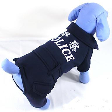 Câine Hanorca Îmbrăcăminte Câini Casul/Zilnic Polițist/Militar Negru