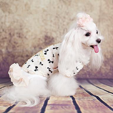 Hund Mäntel Hundekleidung Lässig/Alltäglich Prinzessin Weiß Rosa Kostüm Für Haustiere