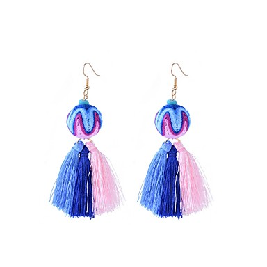 للمرأة مخصص بوهيميان موضة قطن Line Shape مجوهرات أبيض أرجواني أصفر أزرق يوميا فضفاض ذهاب للخارج شارع مهرجان مجوهرات
