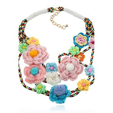 Pentru femei Circle Shape Lux Hip-Hop Cute Stil Bijuterii Statement Nepotrivirea Coliere Bijuterii Flanelă Aliaj Coliere . Crăciun