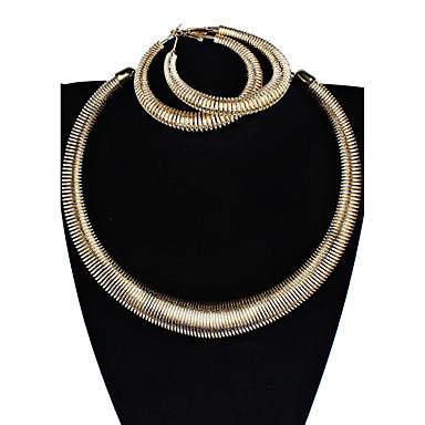 Damen Tropfen-Ohrringe Halskette Personalisiert Party Verabredung Bikini Aleación Kreisform Rohrform Geometrische Form