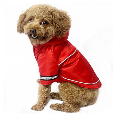 Câine Γιλέκο Îmbrăcăminte Câini Casul/Zilnic Impermeabil Mată Gri Cafea Rosu Albastru Costume Pentru animale de companie