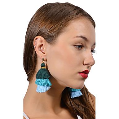 Damen Quaste Kugel-Ohrringe - Personalisiert Quaste Euramerican Modisch Dunkelblau Grau Königsblau Kugel Ohrringe Für Veranstaltung /
