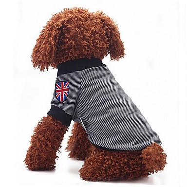 كلب T-skjorte ملابس الكلاب كاجوال/يومي مخطط أسود أصفر أحمر أزرق