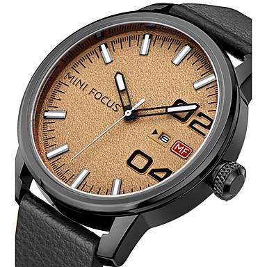 Bărbați Ceas La Modă Ceas de Mână Unic Creative ceas Ceas Casual Ceas Sport Ceas Militar  Quartz Calendar Piele Autentică Bandă Charm Lux