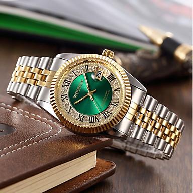 Bărbați Pentru femei Quartz Ceasuri Pave Ceas de Mână Ceas Brățară Japoneză Calendar Rezistent la Apă Plin de Culoare Oțel inoxidabil