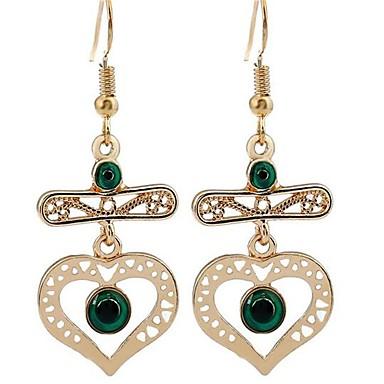 للمرأة أقراط قطرة موضة عتيقة المتضخم سبيكة Heart Shape مجوهرات من أجل فضفاض عطلة ذهاب للخارج