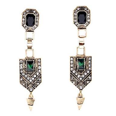 Pentru femei Cercei Stud Ștras La modă Vintage Personalizat Supradimensionat costum de bijuterii Aliaj Triangle Shape Bijuterii Pentru
