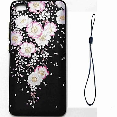 Caz pentru xiaomi mi 5s redmi notă 4 acoperă embosseweid model spate acoperă caz floare moale tpu