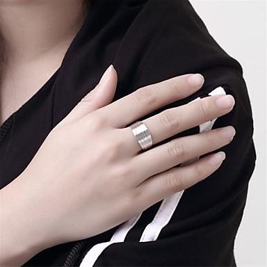 Pentru femei Argilă manşetă Ring - Circle Shape Design Circular Argintiu Inel Pentru Nuntă Petrecere Zilnic Casual