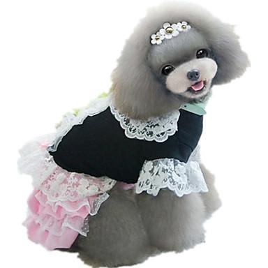 Hond Jurken Hondenkleding Prinses Zwart Paars Geel Roze Lichtblauw Katoen Kostuum Voor huisdieren Casual/Dagelijks
