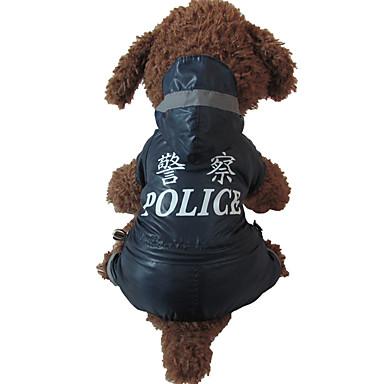 Câine Haină de ploaie Îmbrăcăminte Câini Casul/Zilnic Literă & Număr Negru