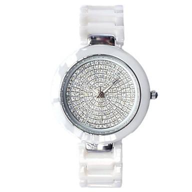 Pentru femei Ceas La Modă Ceasuri Pave Quartz Ceramică Bandă Alb