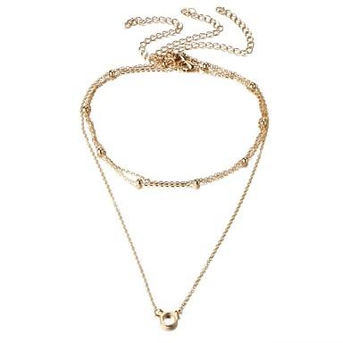Pentru femei Coliere cu Pandativ - Elegant / Modă Rotund Auriu / Argintiu Coliere Pentru Zilnic / Casual / Serată