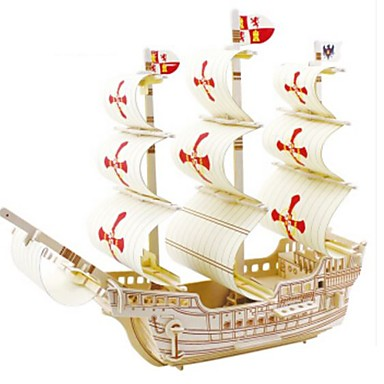 Puzzle 3D Puzzle Modele de Lemn Navă Militară Navă 3D Reparații Lemn Lemn natural 6 ani și peste