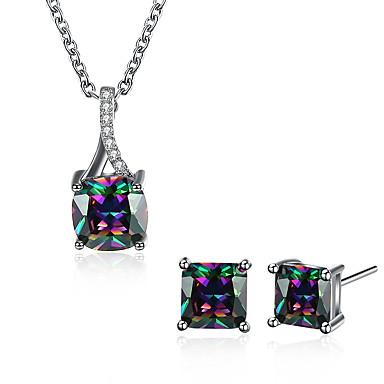 Pentru femei Zirconiu Cubic Set bijuterii - Zirconiu Picătură Design Unic Include Negru Deschis Pentru Nuntă / Birou / Carieră / Zilnic