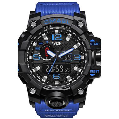 SMAEL Муж. Цифровой электронные часы Армейские часы Спортивные часы Японский Календарь Секундомер Защита от влаги Крупный циферблат