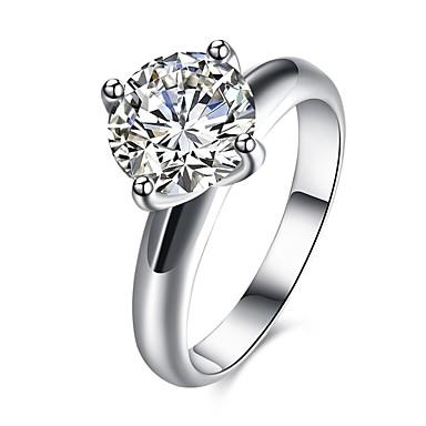 Pentru femei Band Ring Cristal Zirconiu Cubic Argintiu Cristal Zirconiu Zirconiu Cubic Argilă Aliaj Circle Shape Geometric Shape neregulat