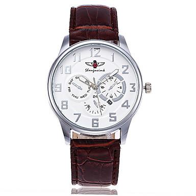 Bărbați Ceas Casual Ceas Elegant  Ceas La Modă Ceas de Mână Unic Creative ceas Chineză Quartz Calendar Piele Bandă Charm Lux Casual