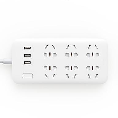 Priză AU Telefon încărcător USB Încarcator Rapid Cabluri 150 cm 6 Prize 3 Porturi USB 10A AC 100V-250V