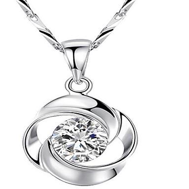 Damen Anhängerketten Kubikzirkonia Geometrische Form Sterling Silber Modisch Schmuck Für Party Alltag