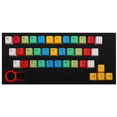 عبس 37 مفاتيح الخلفية قوس قزح ازرار الأصفر لوحة المفاتيح الميكانيكية