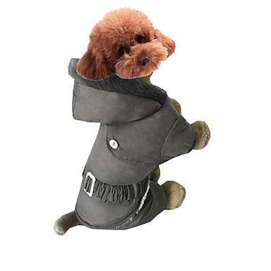 Hund Overall Hundekleidung Solide Grau Rot Rosa Baumwolle Kostüm Für Haustiere Herrn Damen Lässig / Alltäglich Sport