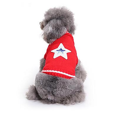كلب البلوزات ملابس الكلاب كاجوال/يومي نجوم كوستيوم للحيوانات الأليفة