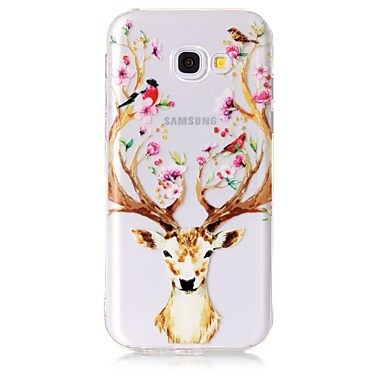 hoesje Voor Samsung Galaxy A5(2017) A3(2017) Transparant Patroon Achterkant Bloem dier Zacht TPU voor A3 (2017) A5 (2017) A5(2016)
