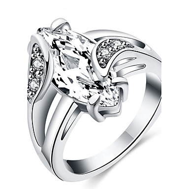 Pentru femei Band Ring Zirconiu Cubic Personalizat Lux Clasic De Bază Sexy Iubire Elegant Cute Stil Modă Zirconiu Aliaj Rotund neregulat